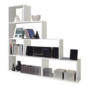 Libreria moderna FORES cm 145x29x145h colore bianco Mod KLUM