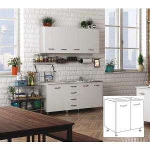 Kit cucina Sottolavello 2 ante colore bianco cm 80x50x85h