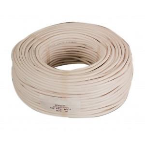 Cavo elettrico bipolare flessibile bianco bobina 100 m sezione 2x0.75
