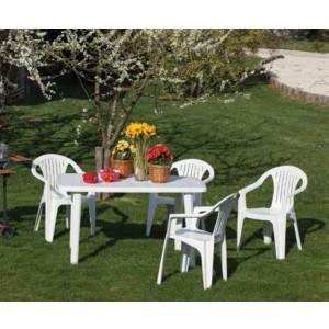 Poltrona colore bianco in plastica antiurto cm. 56x56x79h - arredo casa giardino balcone
