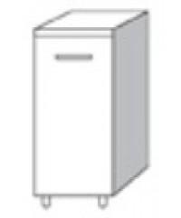 Mobile Base con anta per cucina finitura larice grigio cm. 40x50x85h ...