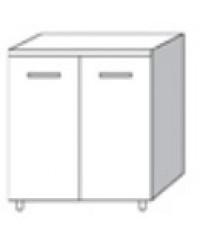 Mobile Base 2 ante per cucina finitura larice grigio cm. 80x50x85h - arredo  casa top in legno