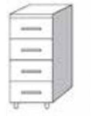 Cassettiera 4 cassetti per cucina finitura larice grigio cm ...