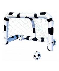 Porta da calcio gonfiabile con 2 palloni gioco per bambini - Porta calcio gonfiabile ...