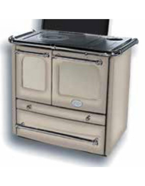 Pittura Vetrificata Per Cucina cucina a legna nordica mod. sovrana cappuccino 6.5 kw 186 m³ - stufa  riscaldamento casa arredo interni
