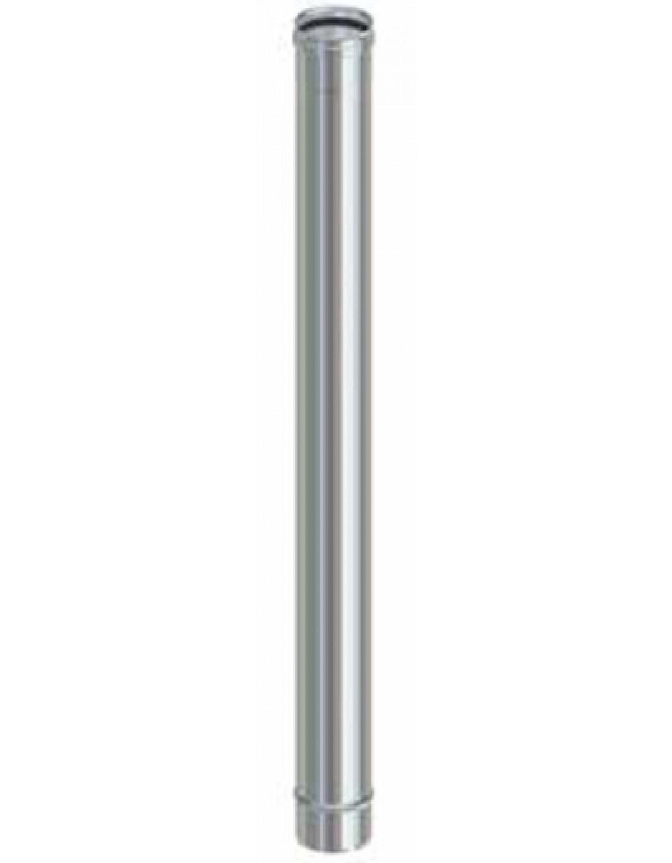 Tubi Aria Calda Stufa Pellet tubo per stufa a pellet in acciaio inox cm. 50 diametro cm. 8 - impianto  riscaldamento casa
