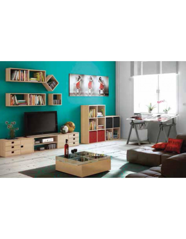 Mini Cassettiera Fai Da Te cassettiera 5 cassetti in legno di pino mod. mini cm. 56x13x12h - arredo  casa