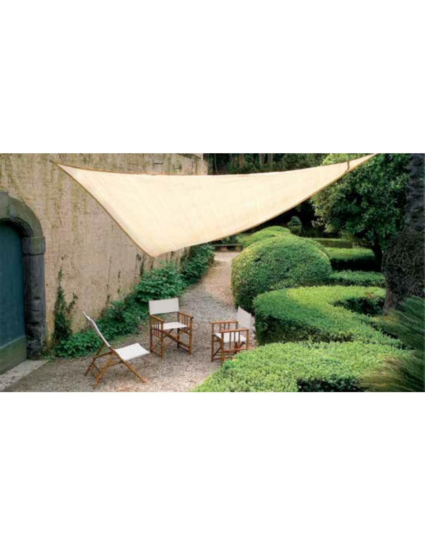 Vela Triangolare Da Giardino vela ombreggiante triangolare in poliestere cm. 500x500x500 - arredo casa  giardino ombrellone gazebo
